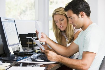 bigstock Couples In Home Office With Co 4135983